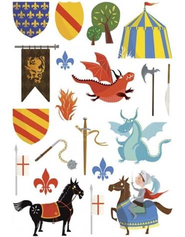 Stickers Chevaliers Maildor anniversaire enfants