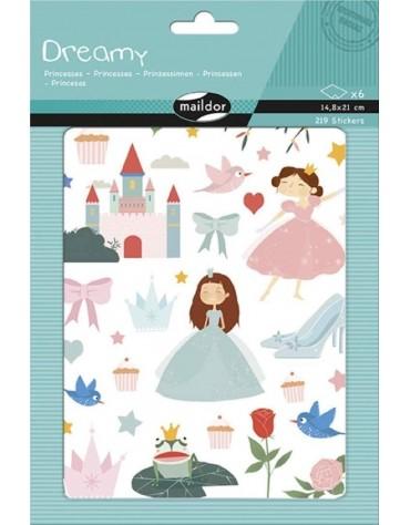 Stickers Princesses Maildor anniversaire enfants