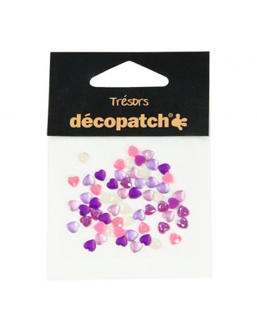 Trésors coeurs roses/violets Décopatch anniversaire enfants