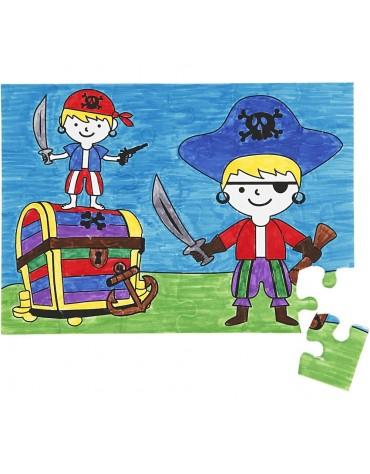 1 Puzzle à colorier Pirates anniversaire enfants