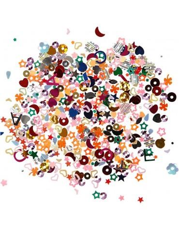 1 Boite multi Paillettes colorées anniversaire enfants