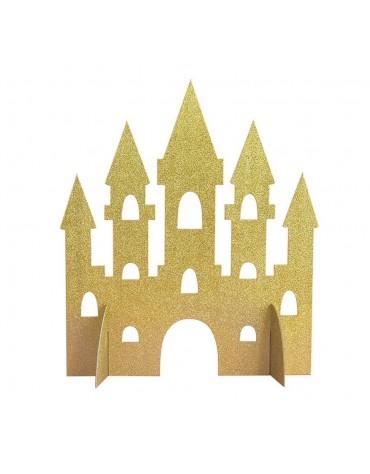 Centre de table Château doré anniversaire thème princesses