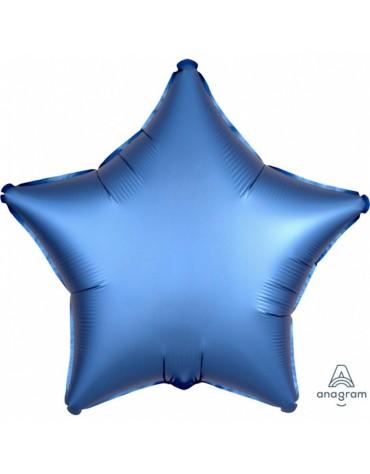 1 ballon Mylar Etoile Bleu métallisé fête anniversaire enfants