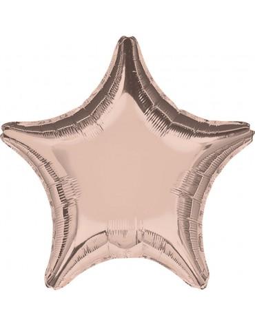 1 ballon Mylar Etoile Cuivré métallisé fête anniversaire enfants