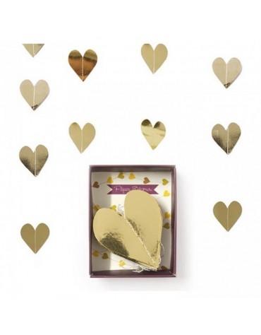 Guirlande Coeurs dorés décoration fête anniversaire