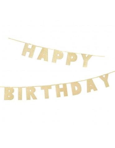 Guirlande Happy Birthday Pailletée décoration fête anniversaire