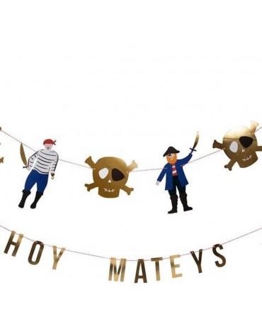 Guirlandes Pirates Meri Meri décoration fête anniversaire enfants