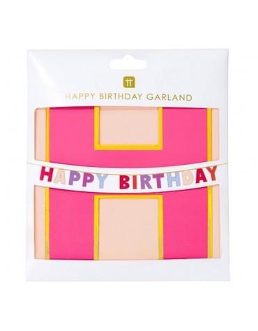 Guirlande Happy Birthday Rose Talking Tables