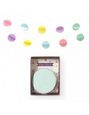 Guirlande Confettis Pastel décoration fête anniversaire