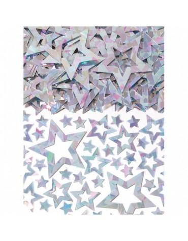 Confettis Etoiles ajourées argentées décoration table de fête