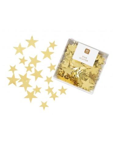Confettis Etoiles dorées Talking Tables décoration table de fête