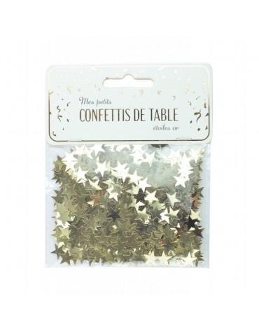 Confettis petites Etoiles dorées décoration table de fête