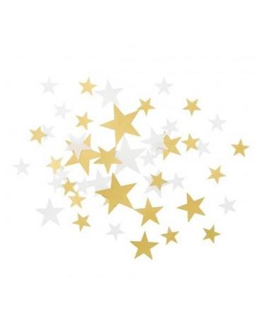 Confettis Etoiles blanches et dorées Talking tables