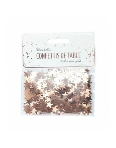 Confettis petites Etoiles rose doré décoration table de fête