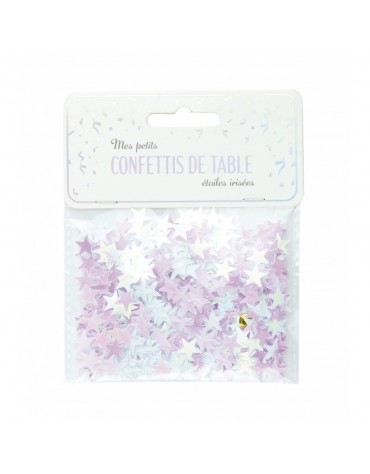 Confettis petites Etoiles rose irisé décoration table de fête