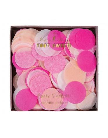 Confettis en dégradé de Rose décoration table de fête