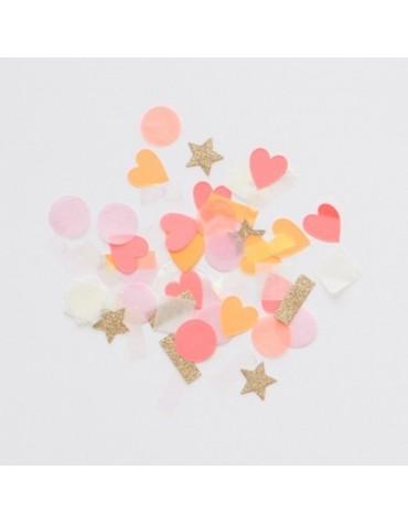 Confettis Roses et Or Meri Meri décoration table de fête