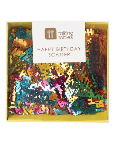 Confettis Happy Birthday Talking tables décoration table de fête