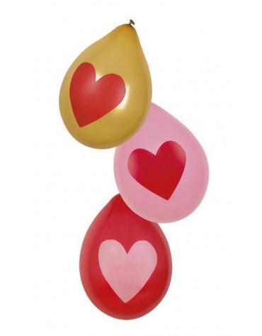 6 Ballons Coeurs décoration fête anniversaire
