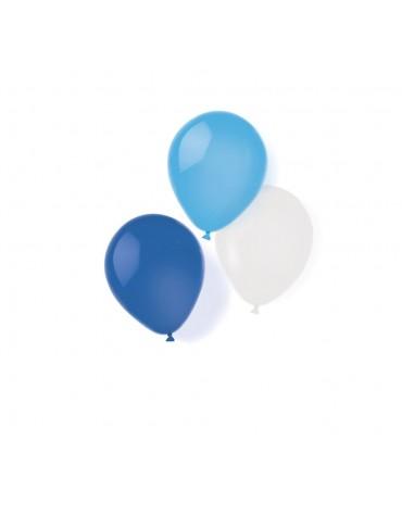 8 ballons assortis Bleus fête anniversaire