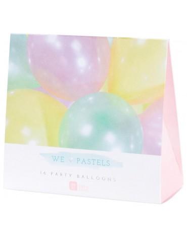 16 Ballons Pastel Talking Tables fête anniversaire