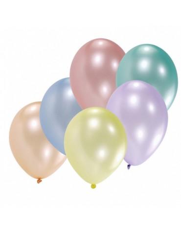 10 ballons assortis nacrés décoration fête anniversaire