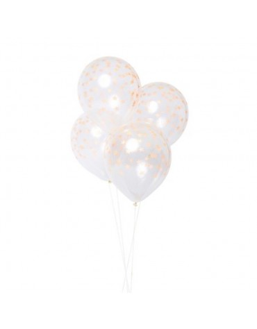 8 Ballons Etoiles Orange Meri Meri fête anniversaire