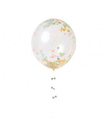 Kit 8 ballons Confettis multicolores Meri Meri fête anniversaire