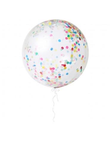 Kit 3 ballons Géants Confettis multicolores Meri Meri fête anniversaire