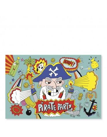 8 Invitations Pirate