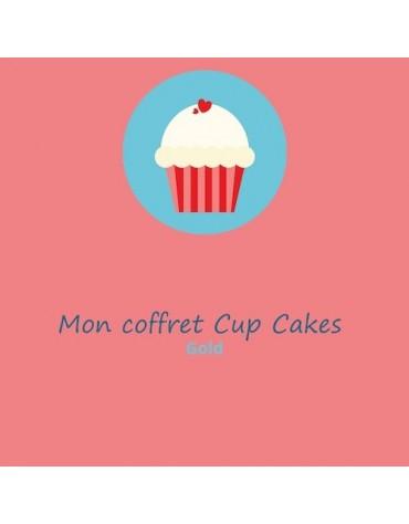 Coffret anniversaire enfants Cupcakes GOLD