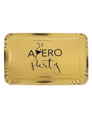 5 plateaux Apéro métallisés décoration table de fête