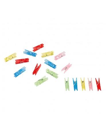 20 Mini Pinces marque verre décoration table de fête