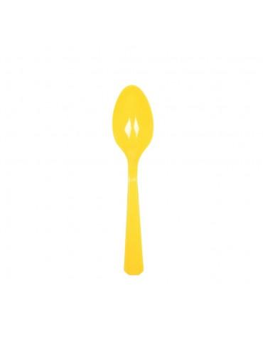 10 Cuillères jaunes décoration table de fête