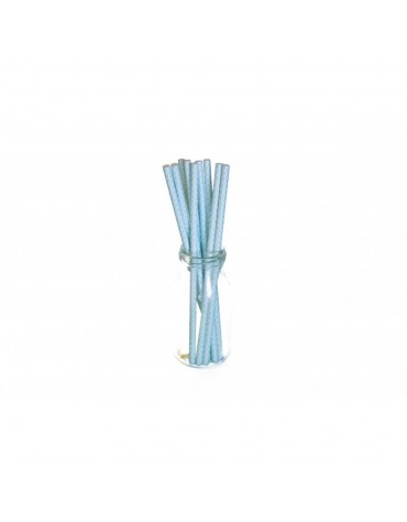 10 Pailles Rétro bleues décoration table de fête