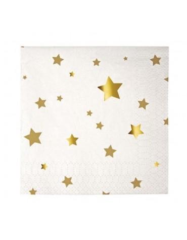 16 Petites serviettes Etoiles dorées Meri Meri décoration table de fête