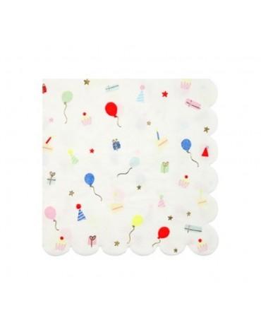 16 Grandes serviettes Fête décoration table de fête