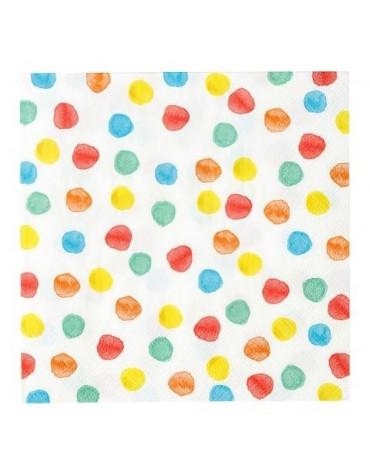 20 Grandes serviettes Pois aquarelle Talking Tables décoration table de fête