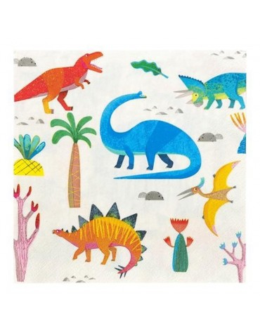 12 Grandes serviettes Dino Talking Tables décoration table de fête