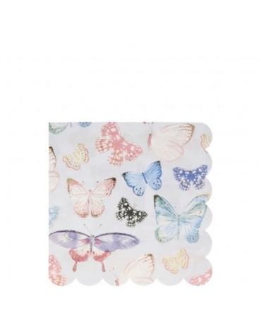 16  Grandes Serviettes Meri Meri Papillons décoration table de fête