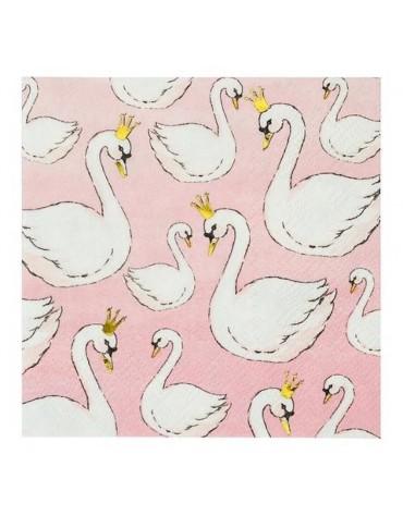 12 petites serviettes Cygnes Meri Meri décoration table de fête