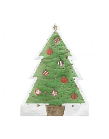 12 Serviettes Sapin de Noël Ginger Ray décoration table de fête