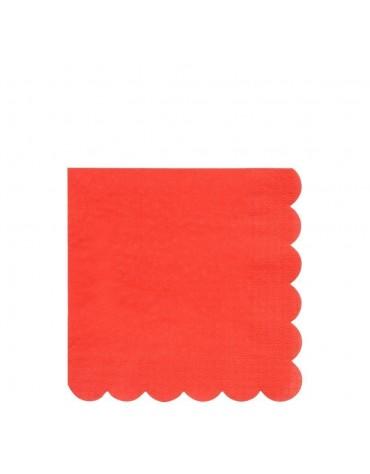 20 Petites serviettes Rouges Meri Meri décoration table de fête