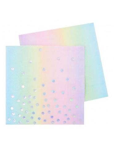 20 Petites serviettes Irisées décoration table de fête