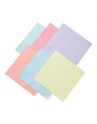 12 Grandes serviettes Pastel Talking tables