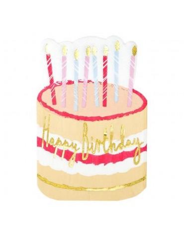 12 Grandes serviettes gâteau d'anniversaire Talking Tables décoration table de fête