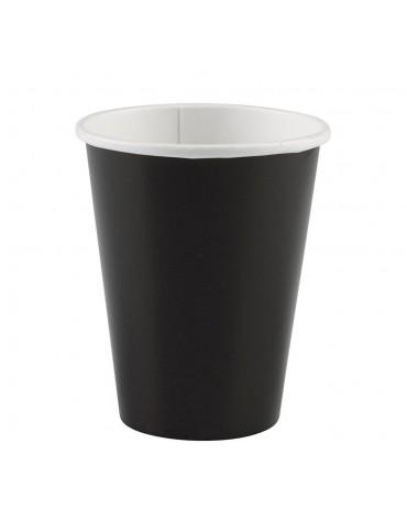 8 Gobelets noirs décoration table de fête