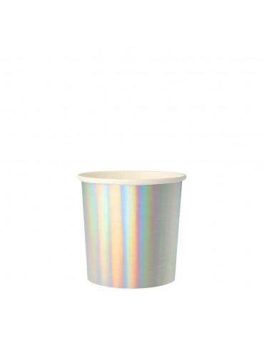 8 Petits gobelets Argent holographiques Meri Meri décoration table de fête