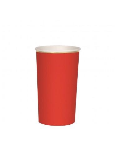 8 Grands gobelets Rouges Meri Meri décoration table de fête