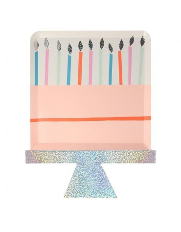 Grandes assiettes carton Gâteau anniversaire Meri Meri décoration table de fête